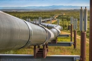 Pipeline traverses tundra